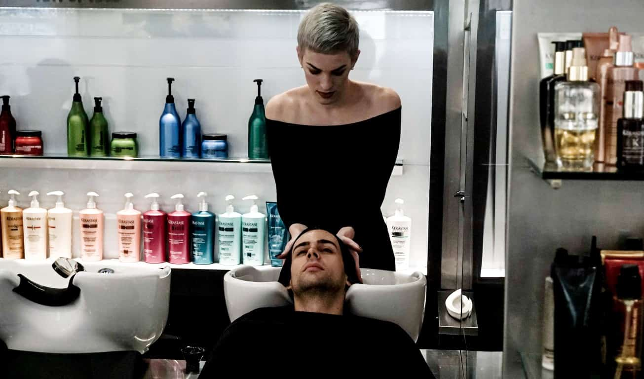 Rakis On Collins (Ainsley Melham's hair (a.k.a Aladdin) is freshly awakened by Kérastase's Chronologiste Luxury Spa Ritual)